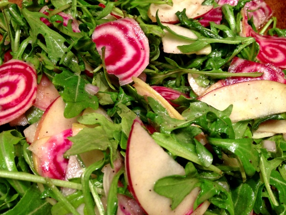 Beet Apple Arugula Salad