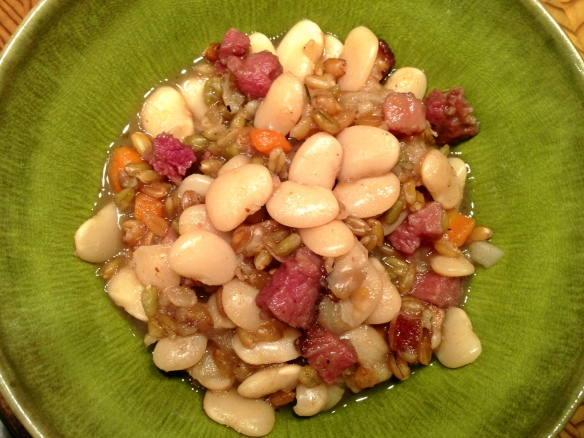 Lima Beans with Ham and Freekeh