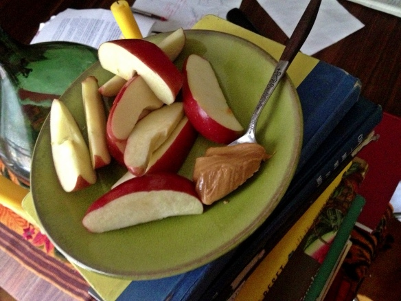 Peanut Butter, Apple and Books
