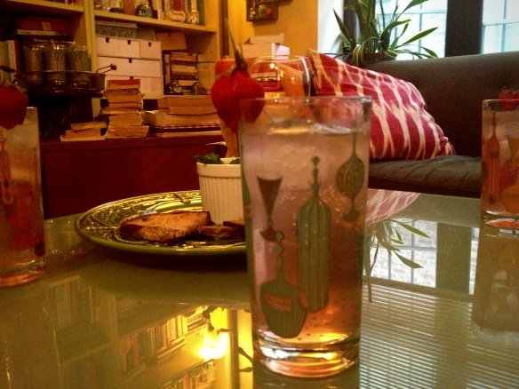 Rhubarb Gin and Tonic