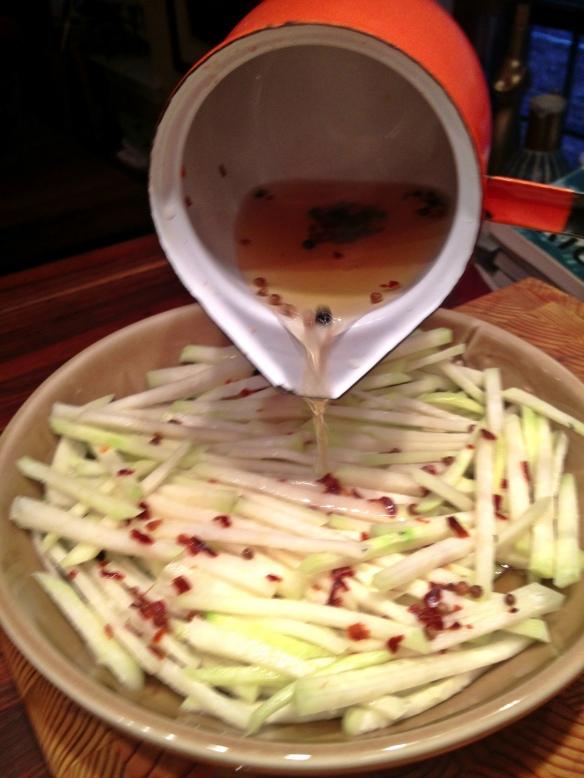 Quick Pickled Kohlrabi