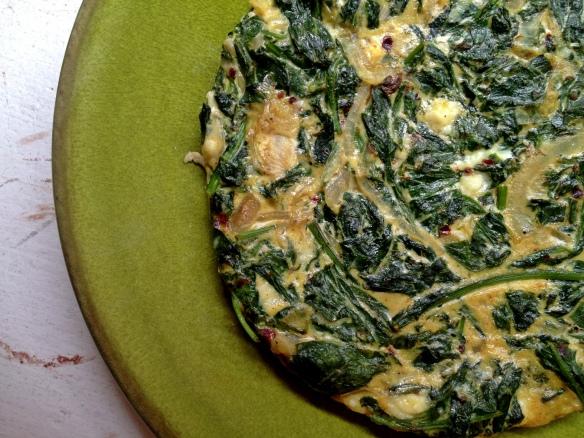 Radish Green Frittata
