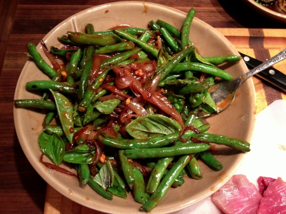 Green Beans with Sesame Peanut Sauce