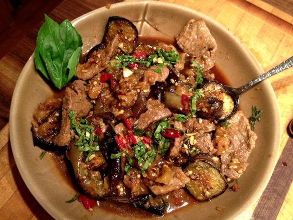 Thai Beef with Eggplant