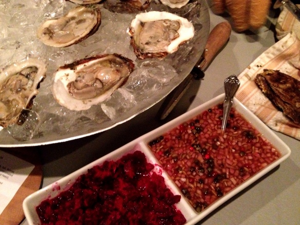 Raw Oysters with Fixin's