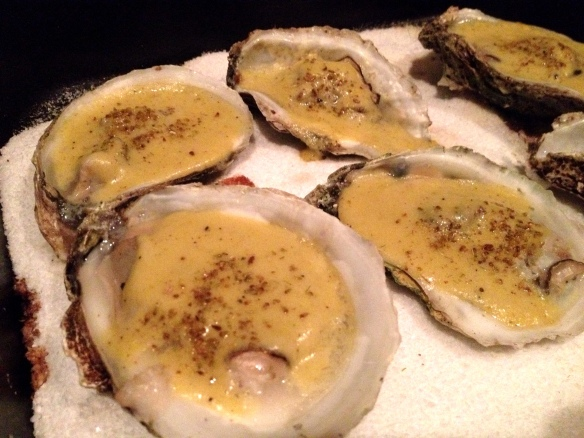 Roasted Oysters with Fennel-Saffron Cream