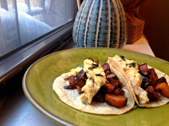 Chipotle Sweet Potato Breakfast Tacos