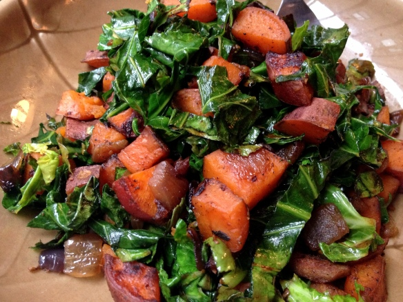 Sweet Potato Collard Hash