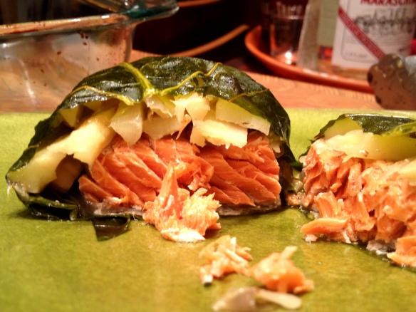 Collard-Wrapped Salmon 2