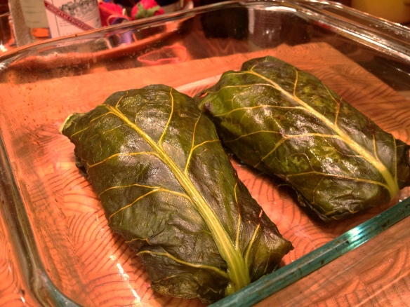 Collard-Wrapped Salmon