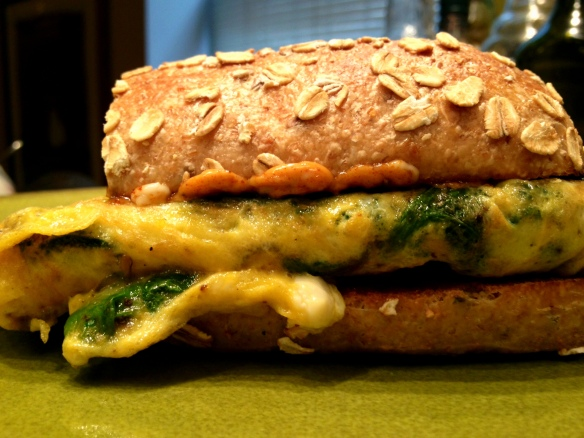 Spinach Omelette Panino