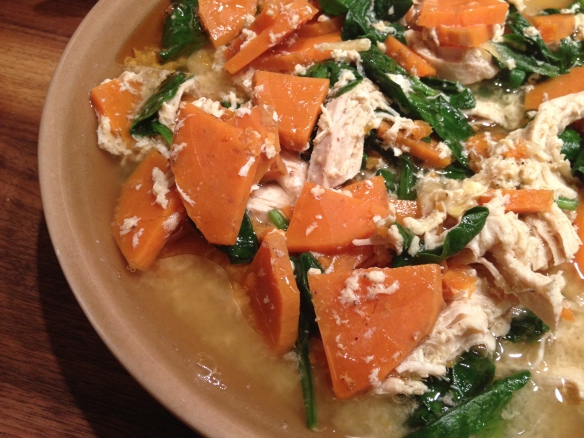 Chicken Sweet Potato Spinach Soup