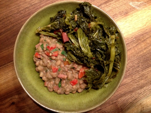 Field Peas and Greens