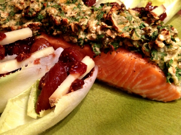 Horseradish, Parsley and Matzo-Crusted Salmon