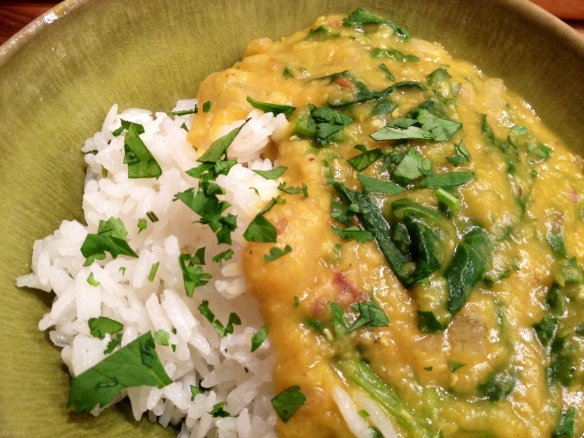 Masoor Dal with Kale