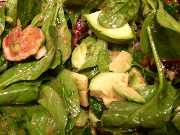 Fig Avocado Spinach Salad