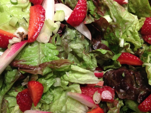 Radish and Strawberry Salad