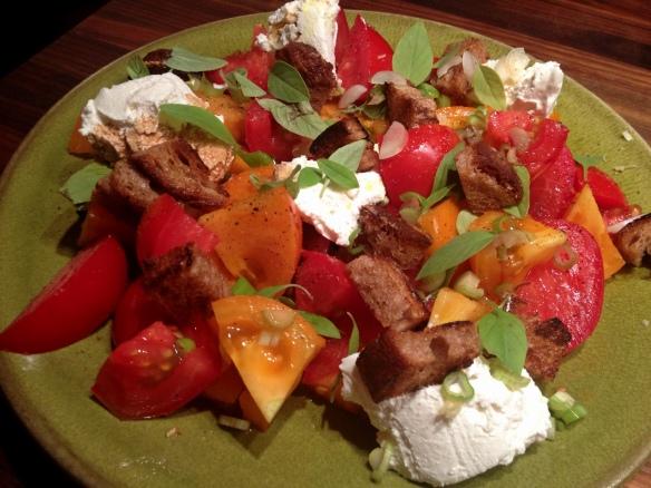 Tomato Bread Ricotta Salad