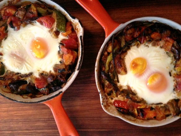 Ratatouille Shirred Eggs
