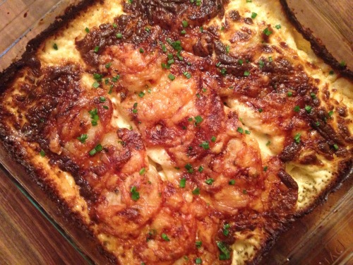 Potato Gratin with Mustard and Gruyere