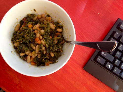 Braised Kale and Cannellini