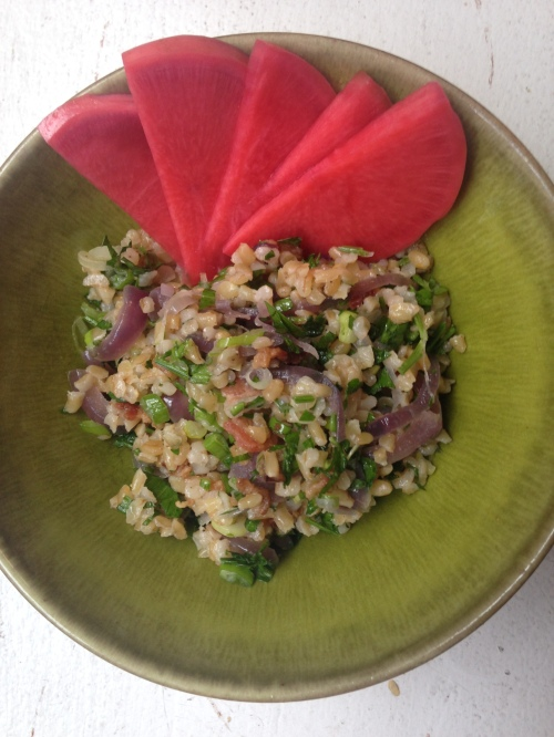 Bacon and Onion Bulgur Salad