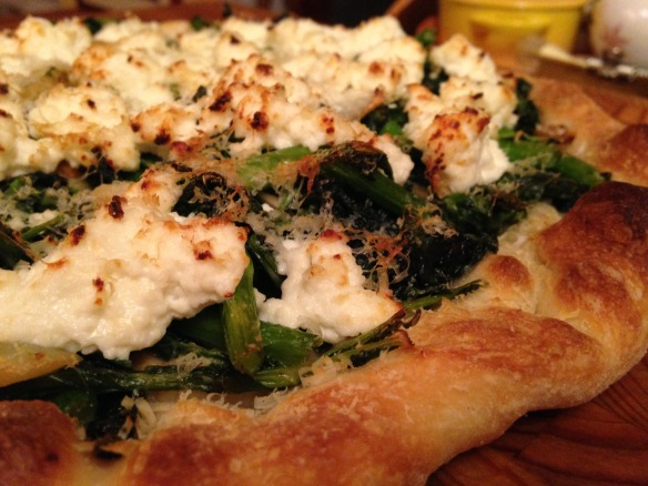 Broccoli Rabe and Ricotta Pizza