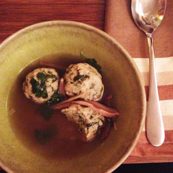Spinach-Miso Matzo Balls