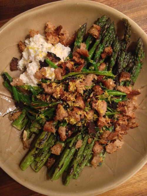 Asparagus, Chives, Ricotta & Breadcrumbs