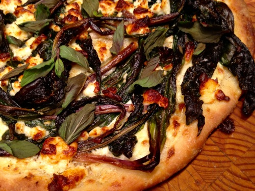Ramp, Feta & Mint Pizza