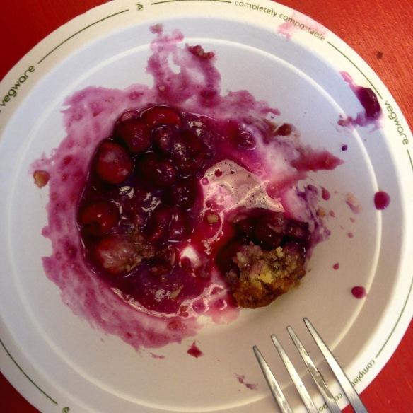 Sour Cherry Crisp Remains