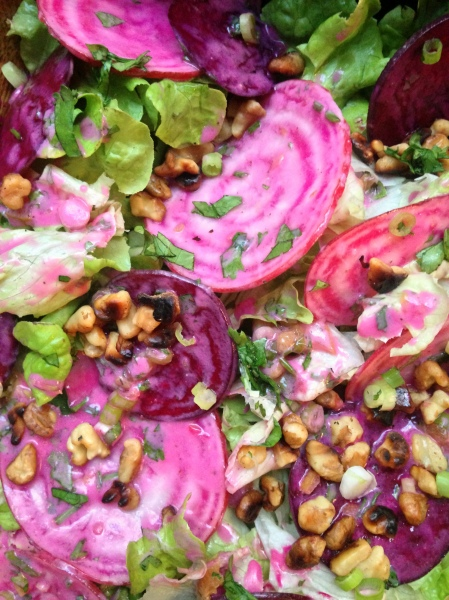 Raw Beet Salad with Preserved Lemon Vinaigrette