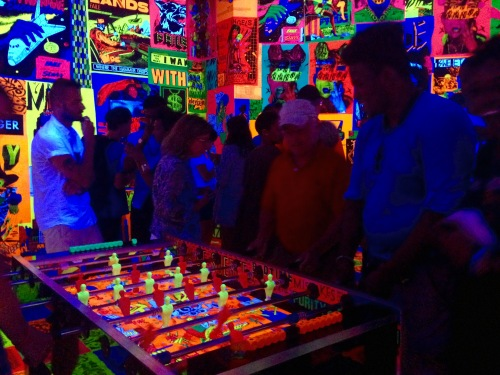 Blacklight Foosball