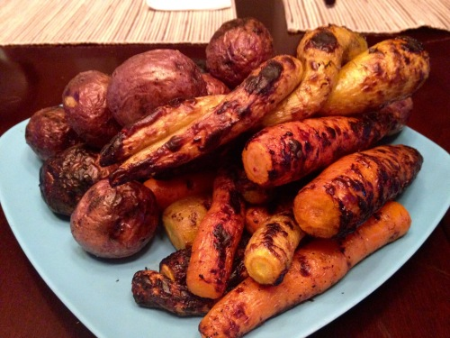 Grilled Carrots and Potatoes