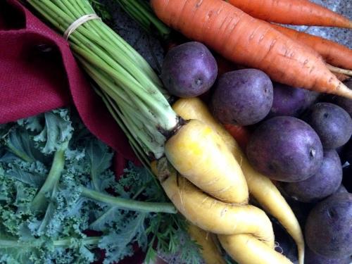 Kale Potatoes Carrots