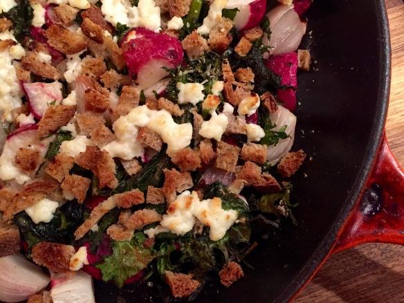Radish Kale Shallot Gratin