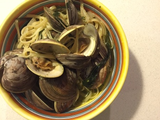Linguine with Clams and Ramps